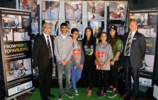 YP at Exhibition launch at Headingley with Lord Patel and Mark Arthur